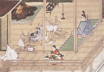 聖人の出家(『親鸞伝絵』東本願寺藏)
